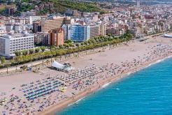 Vista àerea playa GHT Hotel Maritim