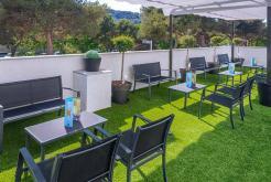 Terraza jardín GHT Hotel Sa Riera
